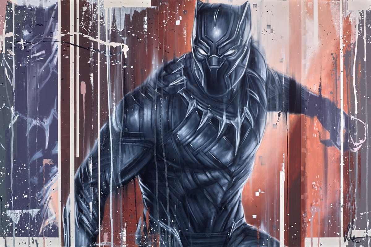 Black Panther by kris hardy -  sized 36x24 inches. Available from Whitewall Galleries